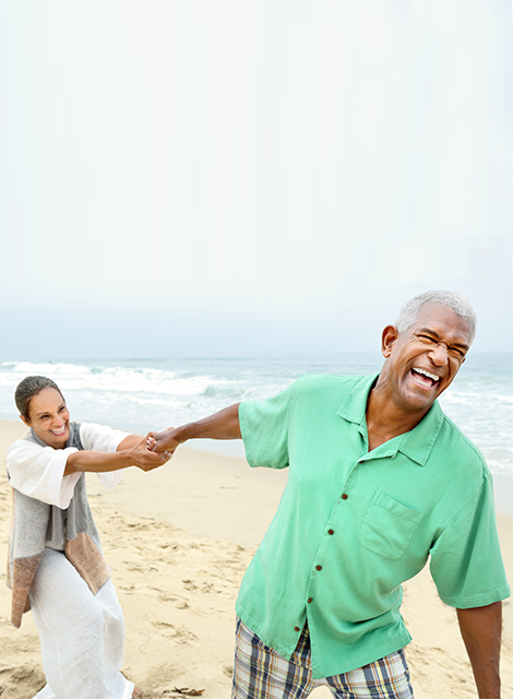 Senior Couple Playing on the Beach
